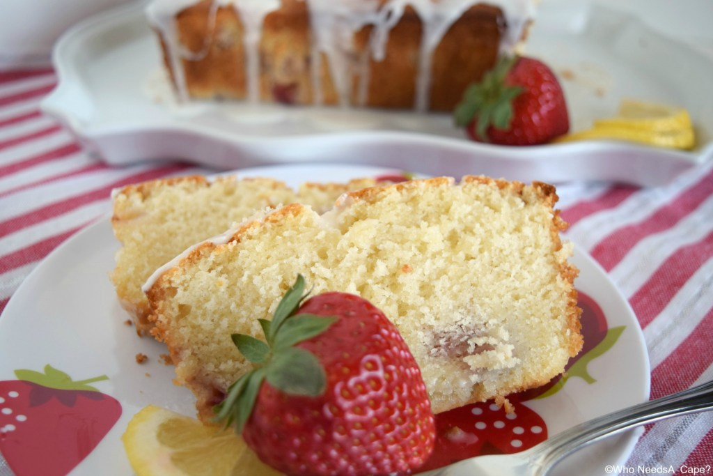 This Glazed Strawberry Lemon Yogurt Loaf is the perfect combination of flavors! Perfect for weekend brunch, dessert or snack time
