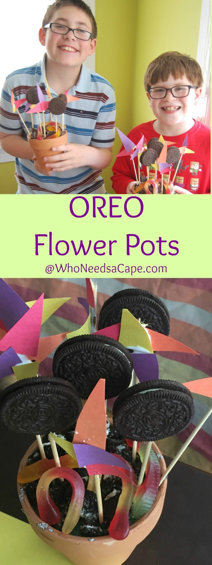 OREO Flower Pots are the sweetest gift - made by the kids and yummy treats. Every dad or grandpa will LOVE getting these