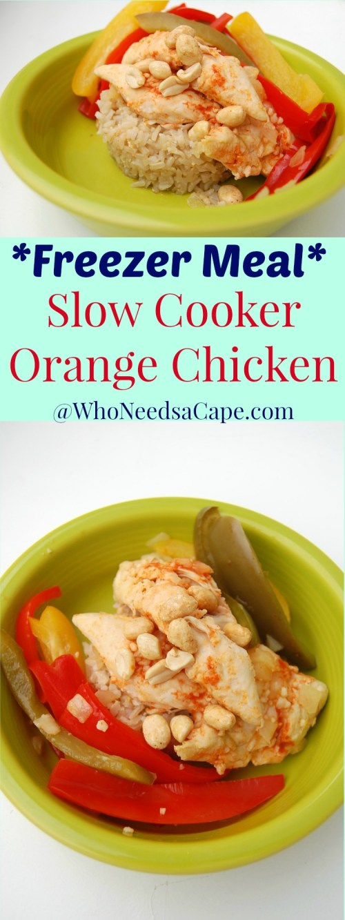 Crock Pot Orange Chicken is a fantastic slow cooker meal! Prep ahead and throw it in the freezer. A great family friendly meal that's easy to make!