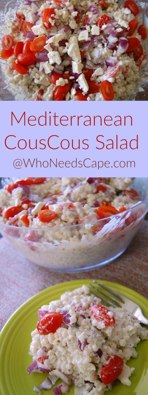 mediterranean couscous salad is a fantastic side dish (especially for bbq's and picnics) a must pin you're going to love it!