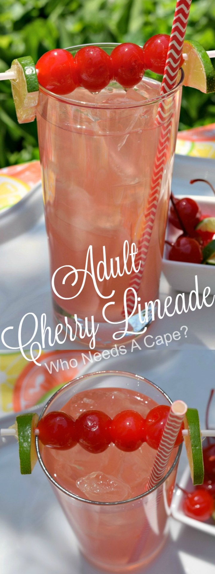 Summer is just made for fruity cocktails! One of my favorites is Adult Cherry Limeade, a little tart, a little sweet, a whole lot of yum!