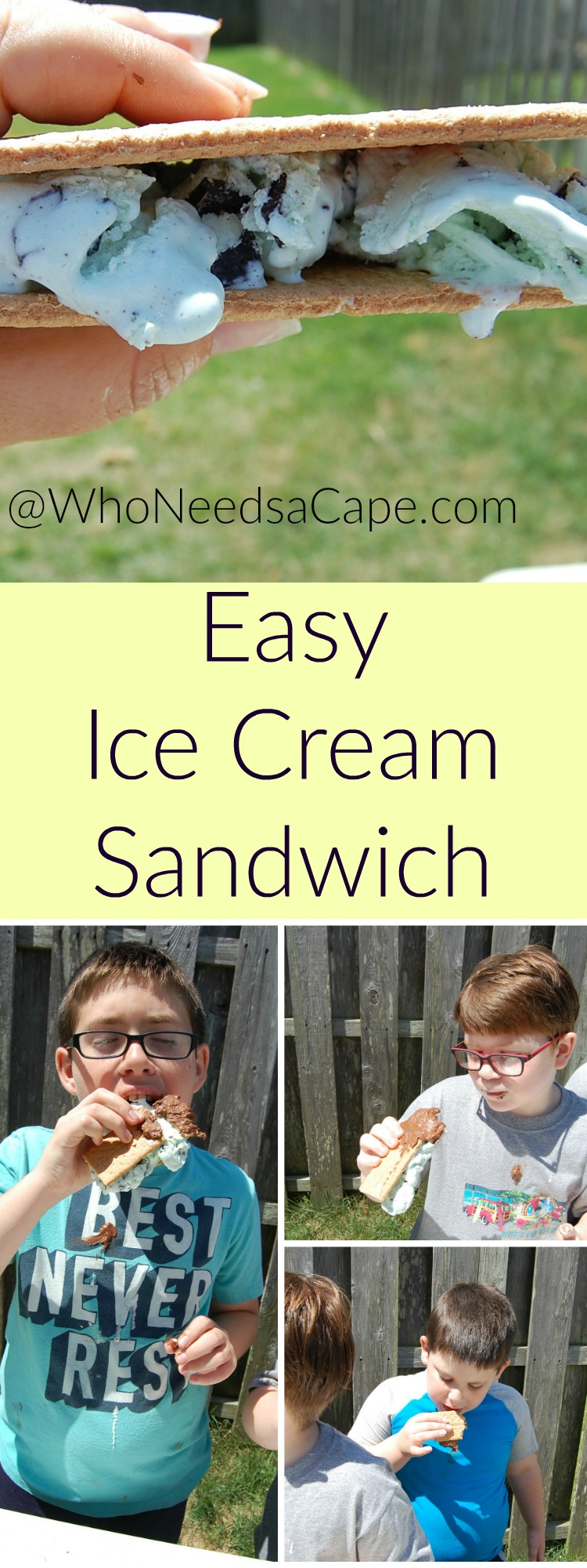 Easy Ice Cream Sandwich is kid made and kid approved. Let your kids be the chef of this EASY treat!