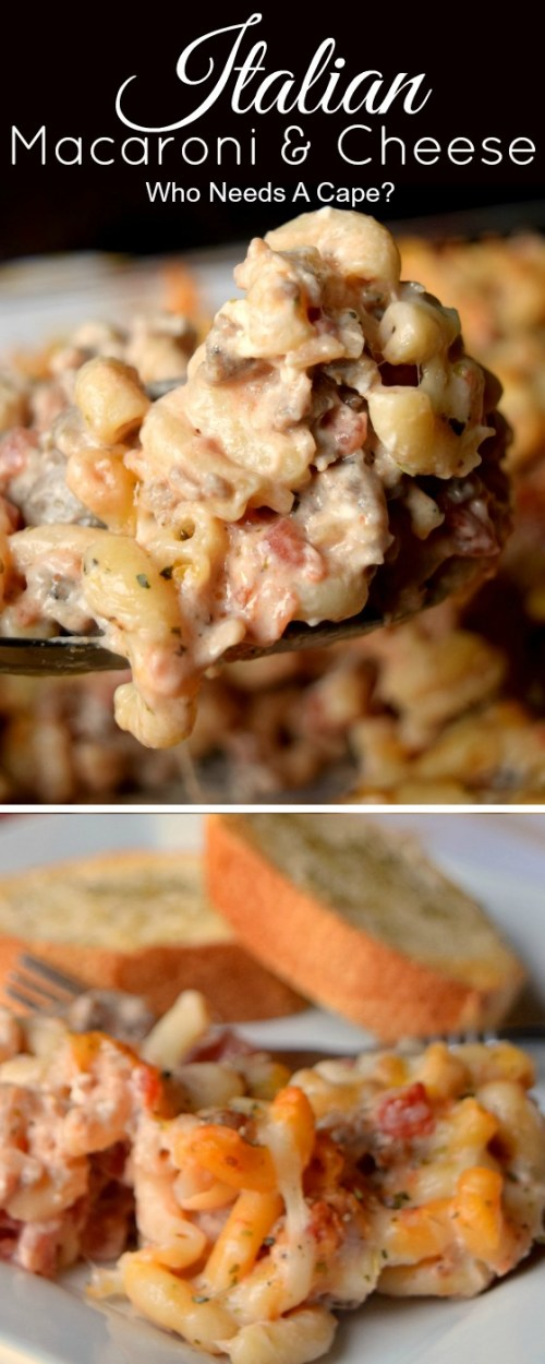 Mix up your dinner routine and make Italian Mac & Cheese! Loaded with cheesy goodness & comforting flavors your family loves. Perfect weeknight casserole.