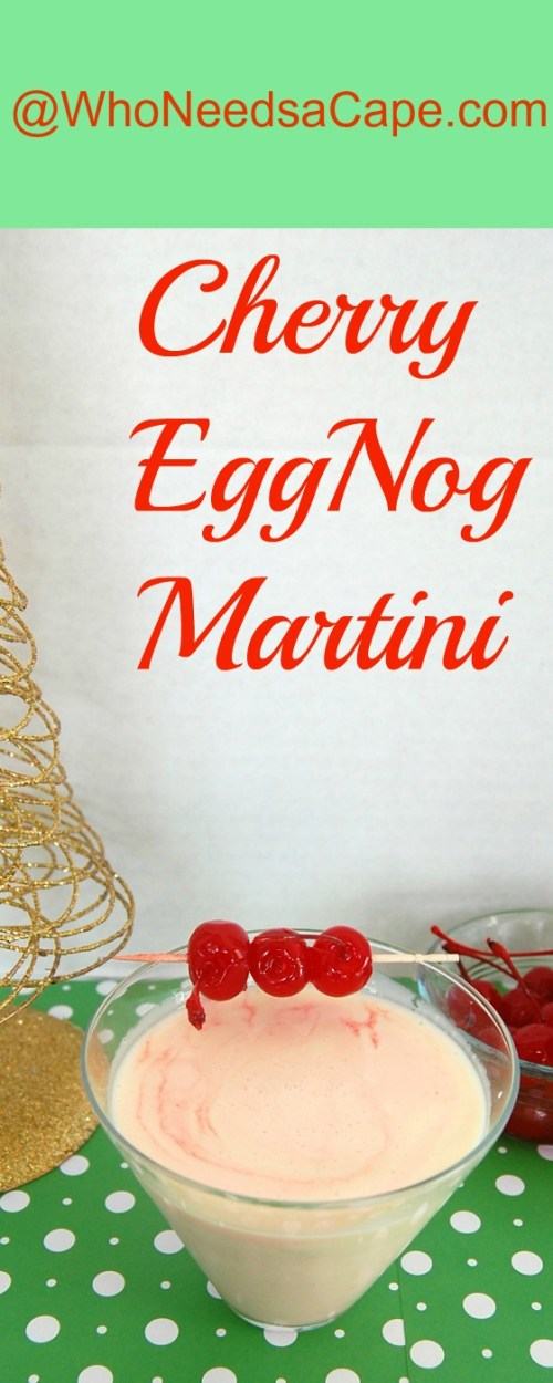 Cherry Eggnog Martini is simple and easy. Brighten up your holidays with this cocktail everyone will love! Perfect for Thanksgiving or Christmas parties!