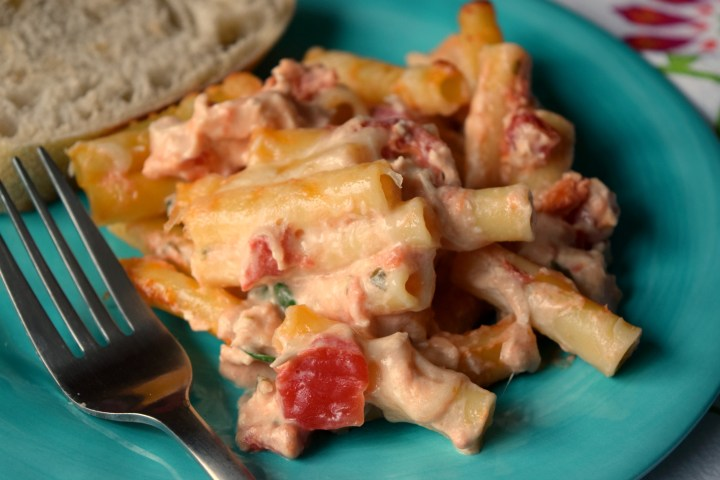 Bring Creamy Chicken Ziti Casserole to the dinner table, you'll get rave reviews. Loaded with diced tomatoes, spinach and cheese, it is delish!