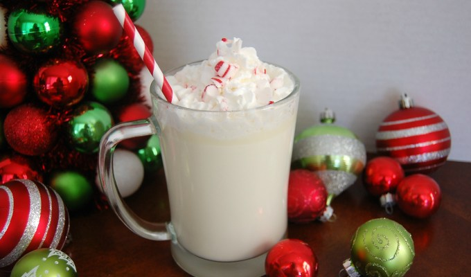 Slow Cooker White Mint Hot Chocolate