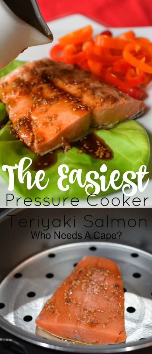 Dinner is on the table in no time with The Easiest Pressure Cooker Teriyaki Salmon. Full of flavor and easy to prepare, a fantastic seafood dinner!