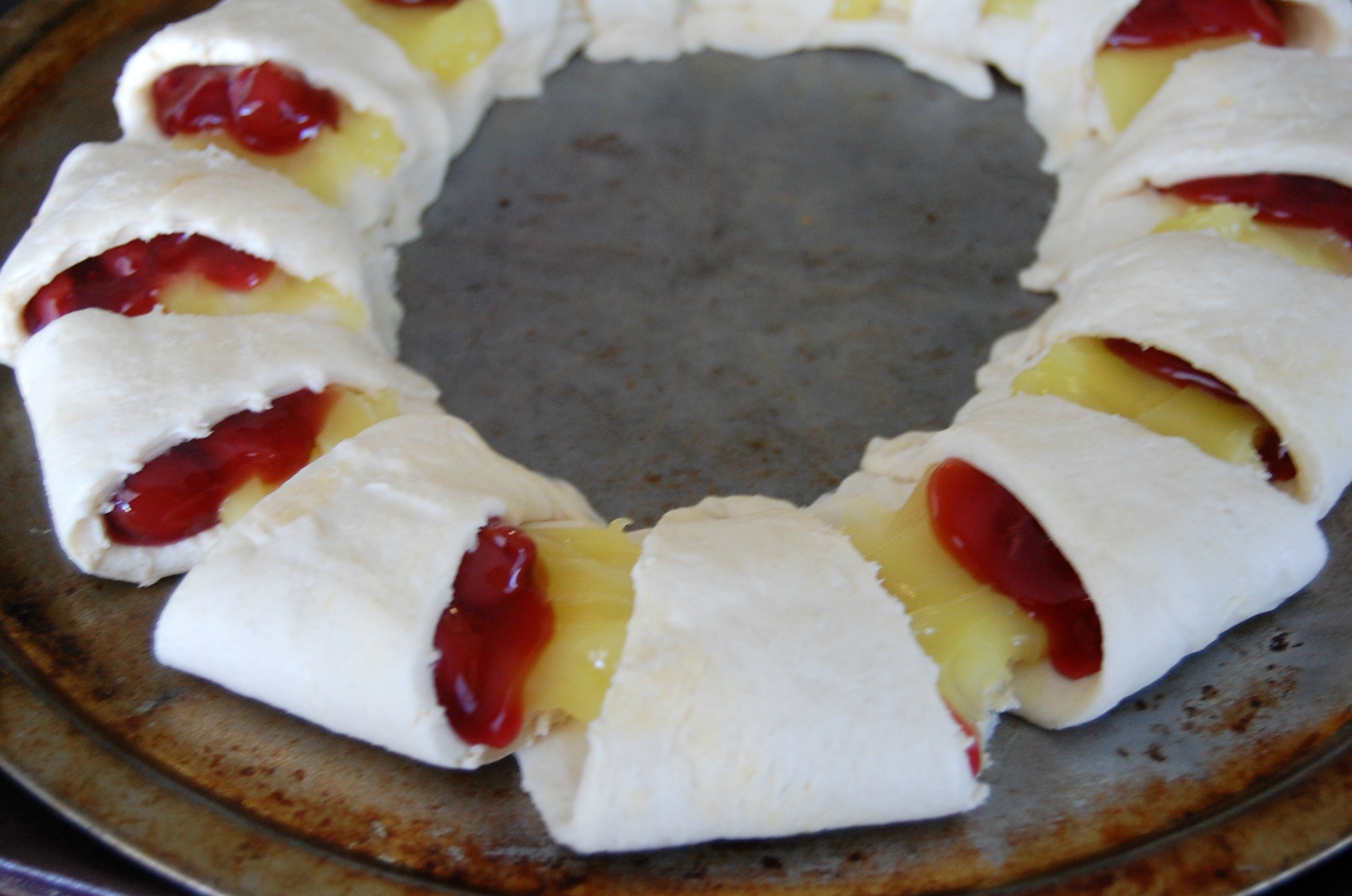 Cherry Lemon Crescent Ring 4