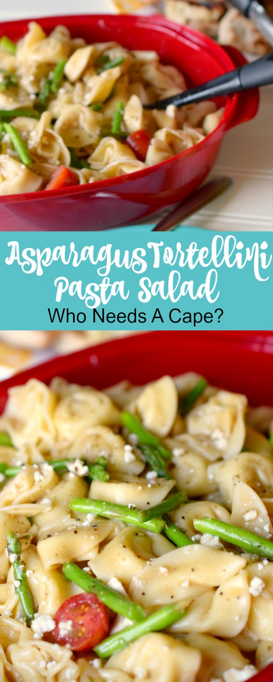 A taste of summer is what Asparagus Tortellini Pasta Salad brings to the table. Loaded with deliciousness this side dish is ideal for grilling or parties.