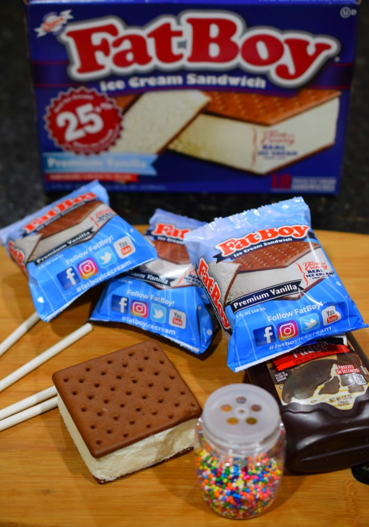 Ice Cream Sandwich Sprinkle Pops make a fun summertime treat. Great for birthday parties or a hot summer afternoon. Kids love helping make them too!