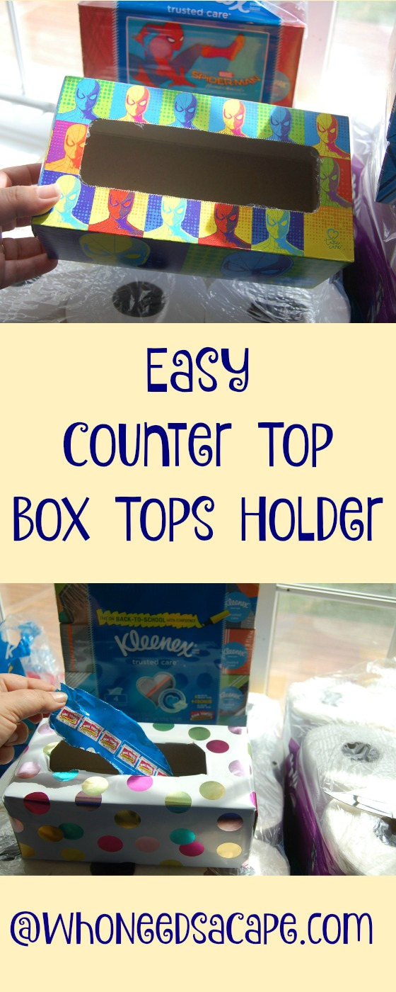 Easy Counter Top Box Tops Holder