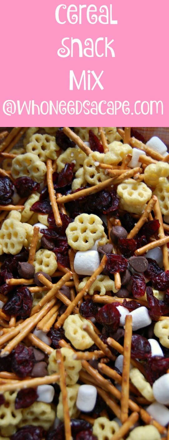 Cereal Snack Mix Who Needs a Cape