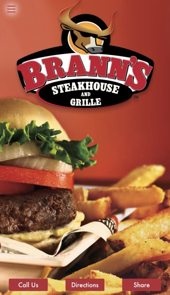 Don't let busy nights slow you down, order takeout easily from Brann's Steakhouse and Grille. Use the app, order, pickup and enjoy a great meal at home!