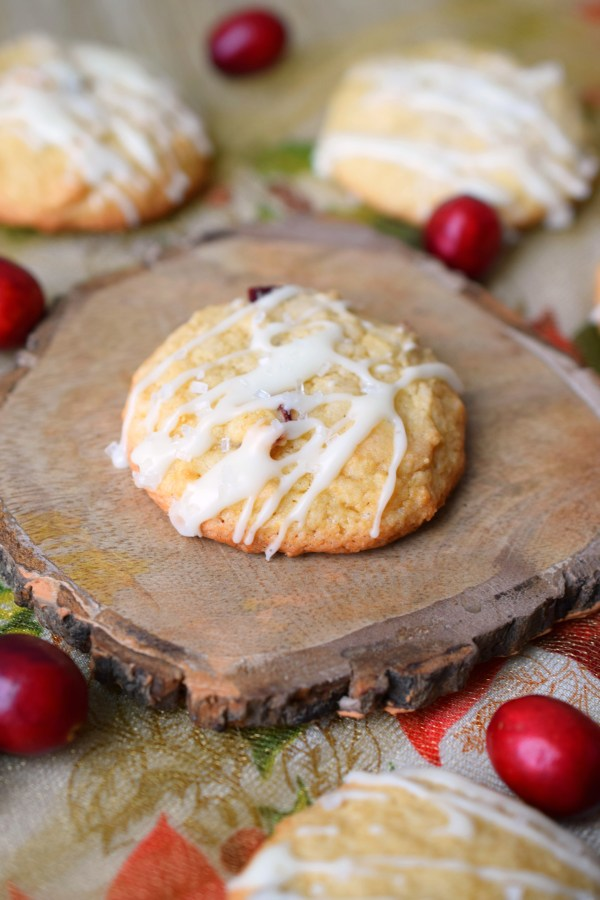 Cranberry White Chocolate Chip Drop Cookies are perfect for holiday cookie exchanges. Easy to make Christmas cookies that even Santa will love.