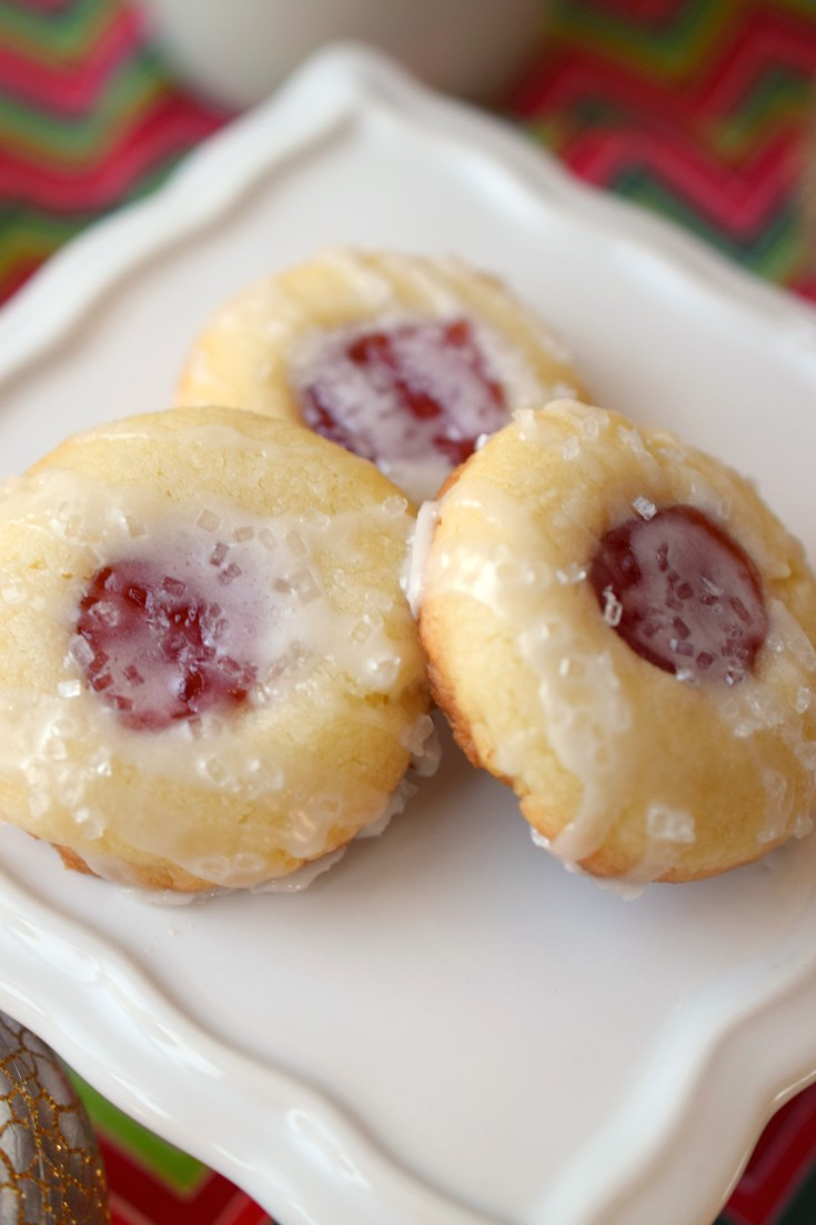 Almond Raspberry Thumbprint Cookies