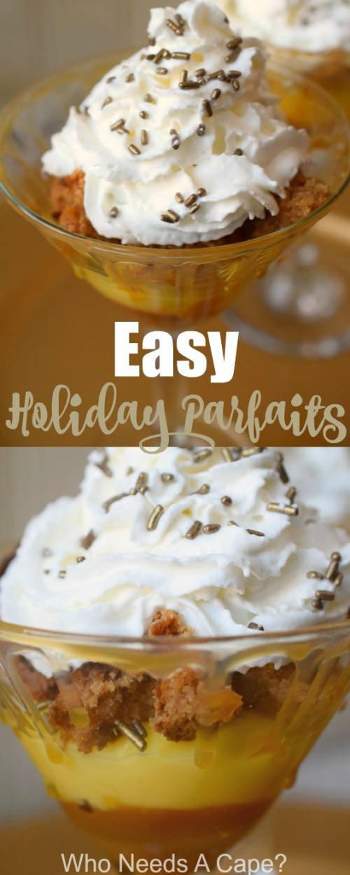 The holiday season is always busy! Do you need a dessert in a pinch? Make Easy Holiday Trifles with simple ingredients, so simple the kids can help too!