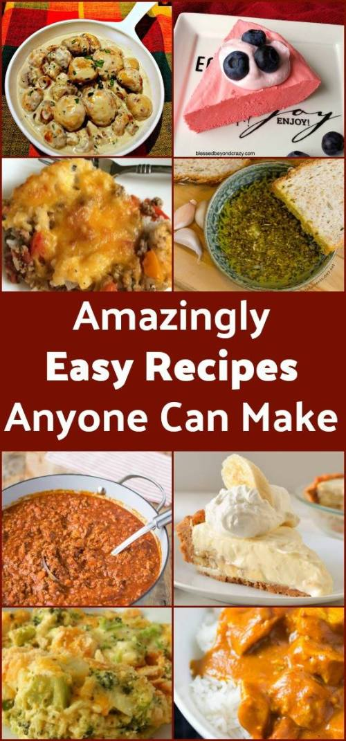 Amazingly Easy Recipes Anyone Can Make brings you the best of the best recipes from some of your favorite bloggers. Delicious & easy to make, a great combo!