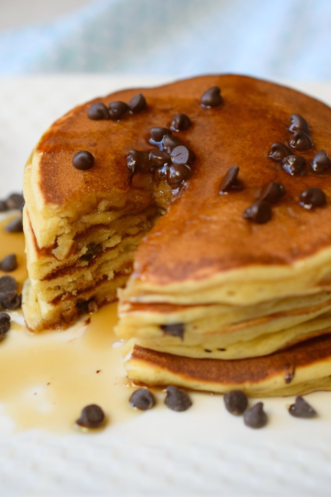 Peanut Butter Chocolate Chip Pancakes Who Needs A Cape