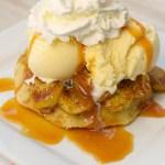 Bananas Foster Dessert Waffles