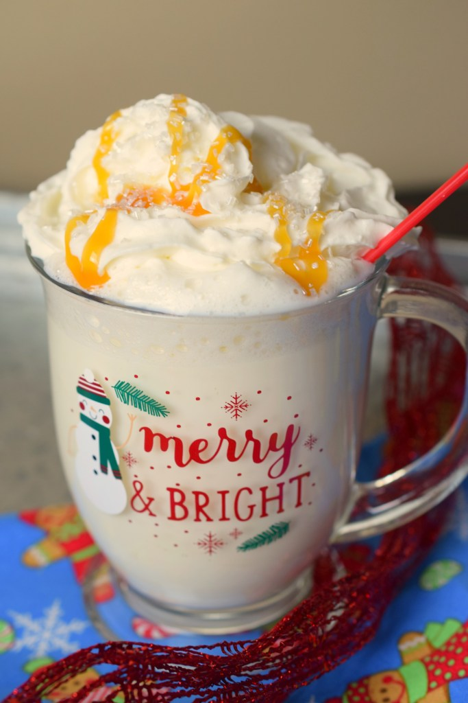Chilly winter days deserve Salted Caramel White Hot Chocolate. A decadent yet easy to make beverage that's great for the holiday season.