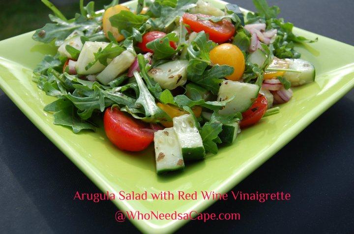 Arugula Salad with Red Wine Vinaigrette