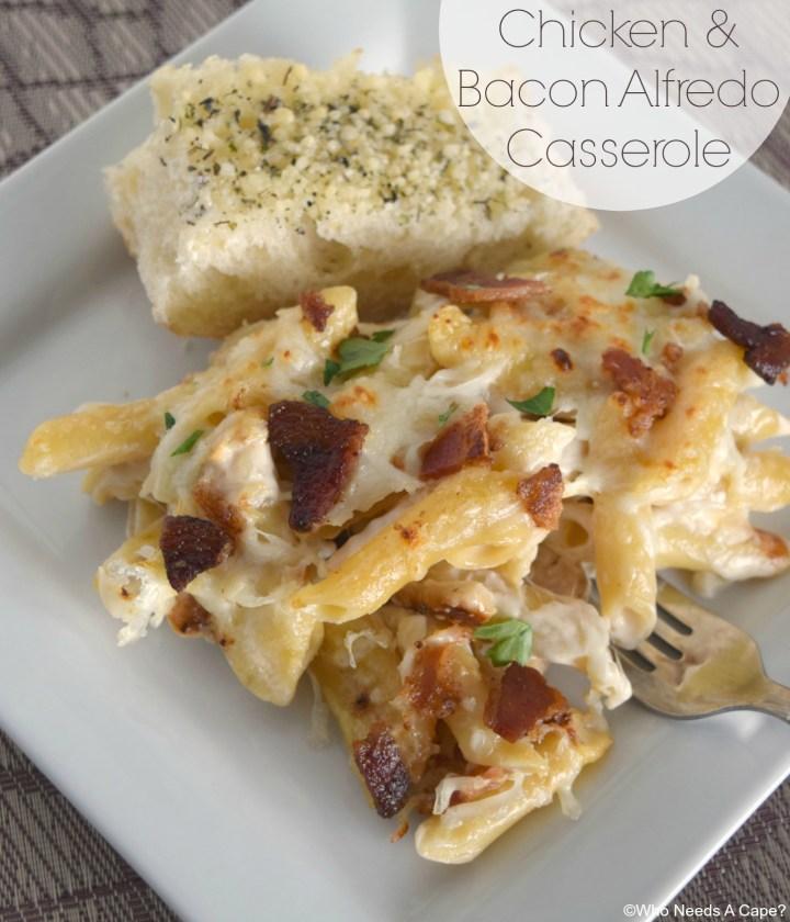 Chicken & Bacon Alfredo Casserole