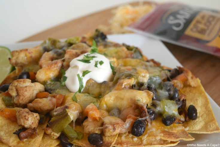Cheesy Chicken & Poblano Nachos