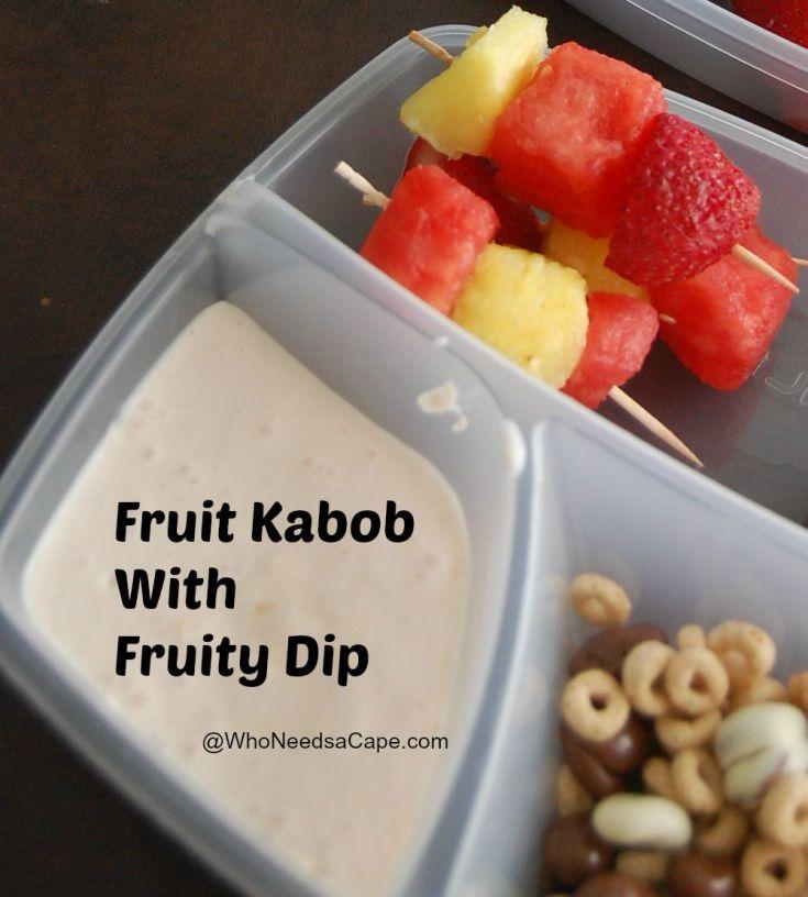 Easy Healthy Fruit Kabob & Dip