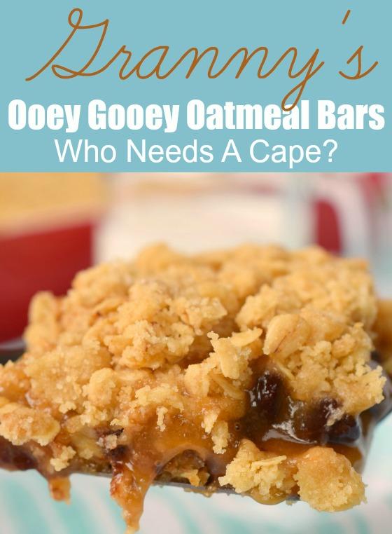 Granny's Ooey Gooey Oatmeal Bars