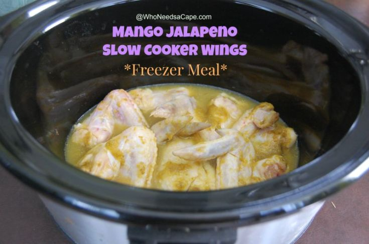 Mango Jalapeno Slow Cooker Wings