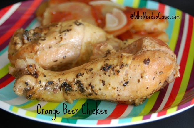 Slow Cooker Orange Beer Chicken