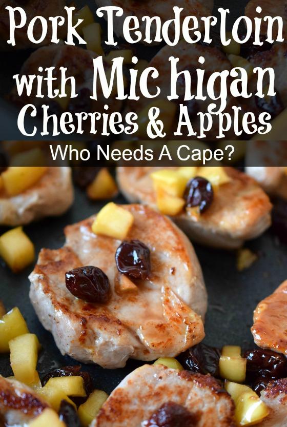 Pork Tenderloin with Michigan Cherries & Apples