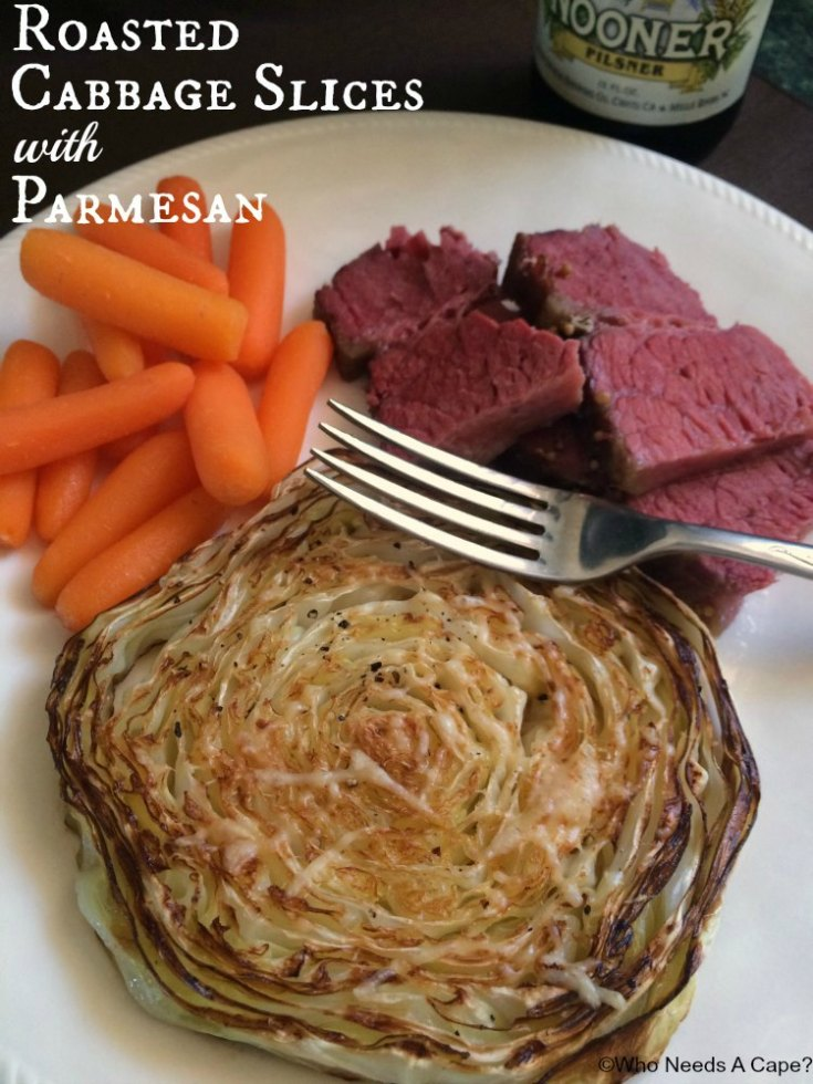 Roasted Cabbage Slices with Parmesan