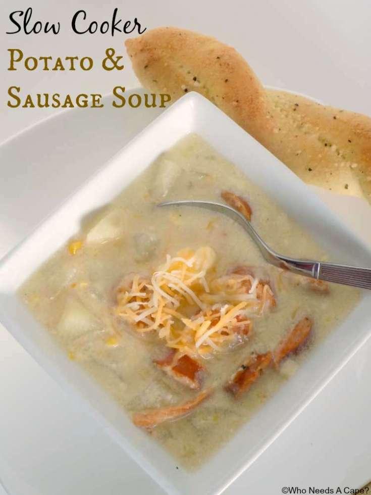 Slow Cooker Potato & Sausage Soup