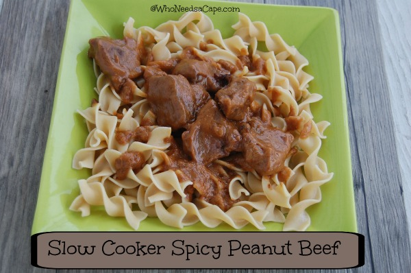 Slow Cooker Spicy Peanut Beef