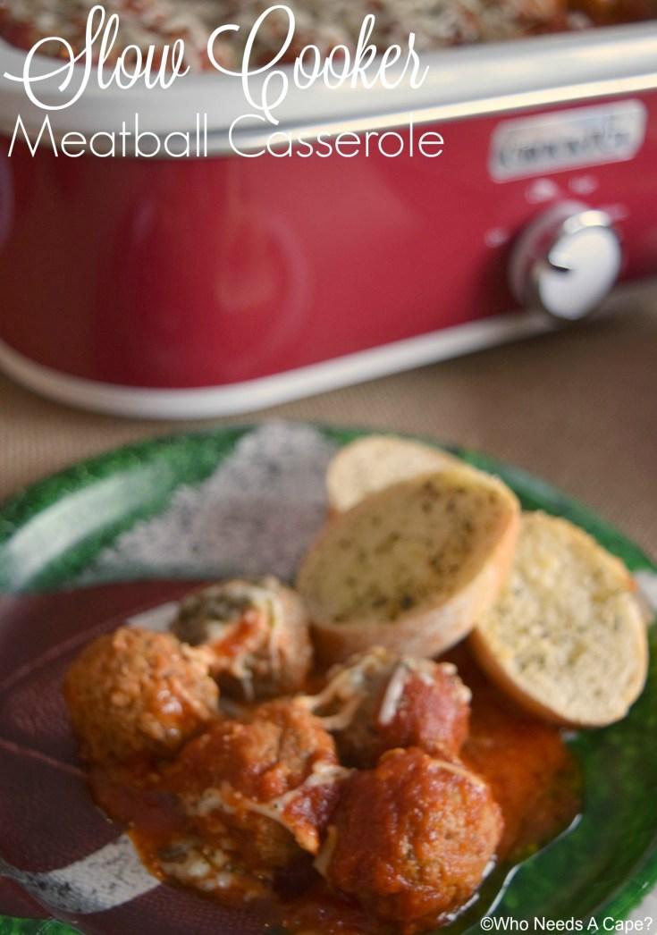 Slow Cooker Meatball Casserole