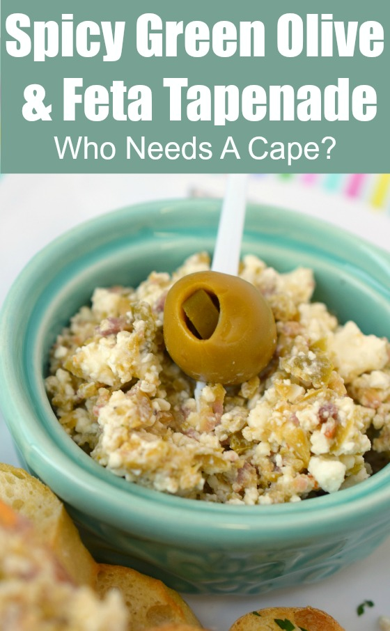 Spicy Green Olive & Feta Tapenade