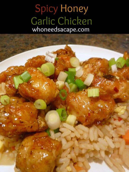 Spicy Honey Garlic Chicken