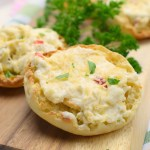 Cheesy Artichoke English Muffins
