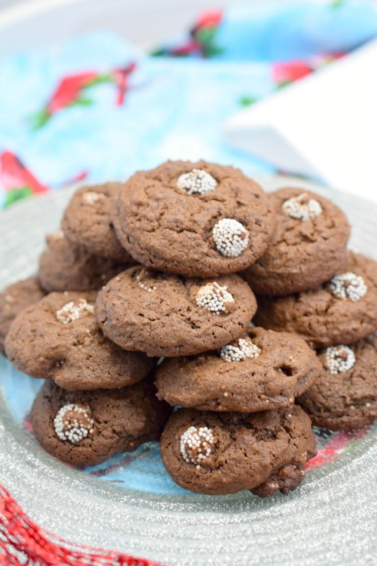 Chocolate Peppermint Sno-Cap Cookies