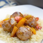 Saucy Meatball Stir-Fry over Garlic Rice