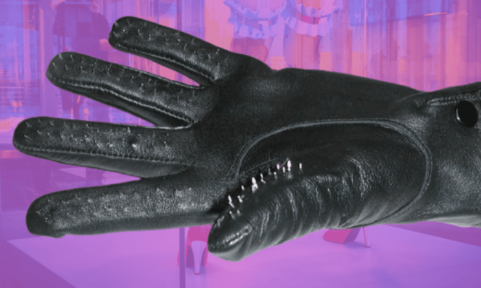 Play hardcore sissy games with these chastity gloves