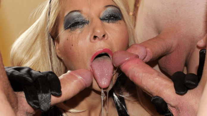 Blondie Blow is the blowbang Queen of Liverpool porn stars