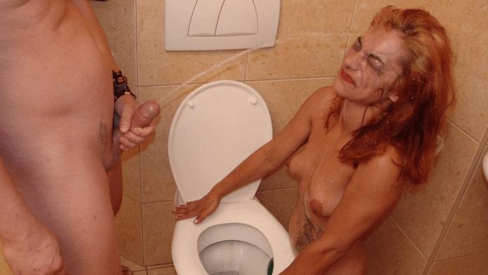 An alternative truck stop shower of piss