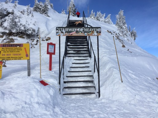 Stairway to Heaven gives access into Kicking Horse's Feuz Bowl - some great lines there if the snow is fresh.