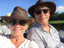 Australian cowboy hats work just as well in the rainy Amazonas!