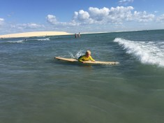 When not kiting, Max was surfing