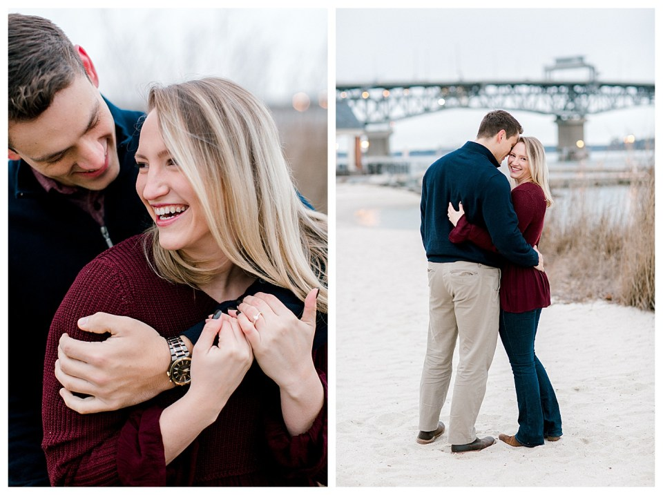 yorktown beach engagement session