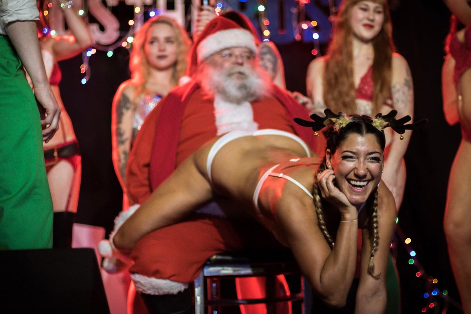 Tatas for Toys Portland PDX Dancer Stripper Santa Xmas Sexy