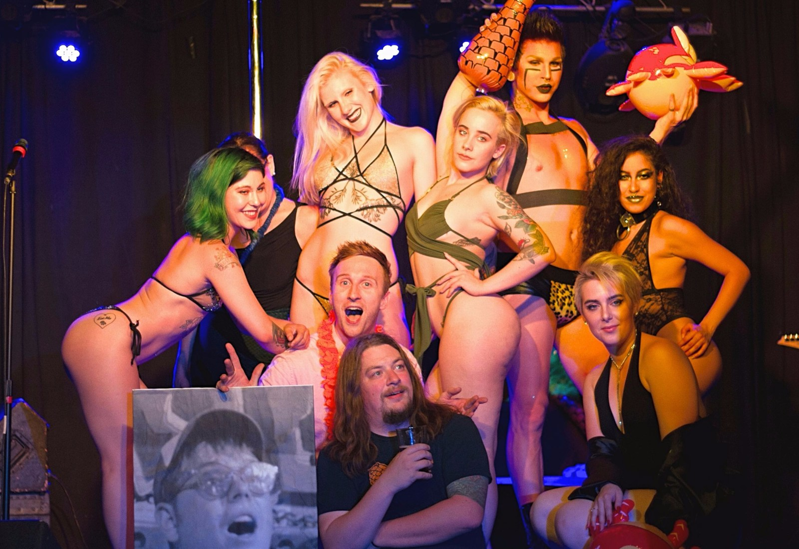 """Who's the Ross?"" whos the ross Aaron comedian comedy Portland PDX FSO ""for strippers only"" strippers dancers exotic dancer live entertainment comedy humor funny improv sketch host talk show Dante's babes"